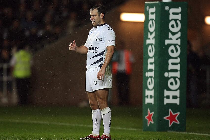 Photo: Rich Eaton...Ospreys v Sale Sharks. Heineken Cup. 20/10/2006. Charlie Hodgson of Sale Sharks.