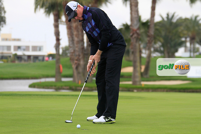 Simon Dyson (ENG) putts on the 16th green during Friday's Round 2 of the Open de Espana at Real Club de Golf de Sevilla, Seville, Spain, 4th May 2012 (Photo Eoin Clarke/www.golffile.ie)