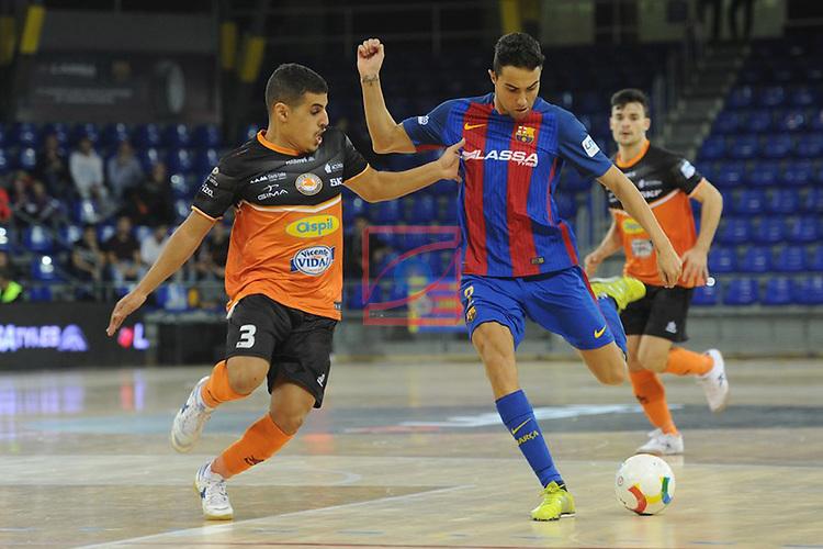 League LNFS 2016/2017 - Game 6.<br /> FC Barcelona Lassa vs Aspil Vidal Ribera Navarra: 7-1.<br /> Hamza vs Aicardo.