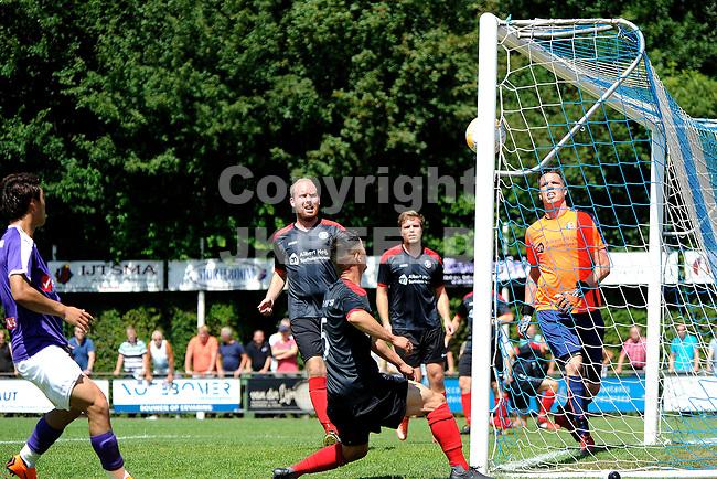 SURHUISTERVEEN - Voetbal, T Fean 58 - FC Groningen, voorbereiding seizoen 2018-2019, 07-07-2018,  inzet FC Groningen speler Mimoun Mahi op de paal