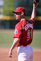 May 29th 2008:  Jason Kershner of the Reading Phillies, Class-AA affiliate of the Philadelphia Phillies, during a game at Jerry Uht Park in Erie, PA.  Photo by:  Mike Janes/Four Seam Images