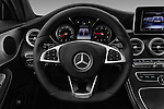 Car pictures of steering wheel view of a 2016 Mercedes Benz C-Class Sportline 2 Door Coupe Steering Wheel