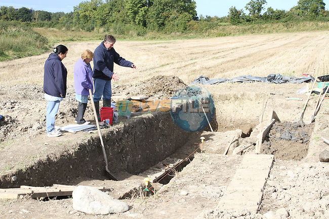 Brian Rogers, Chairperson of the Annagassan and District Historical Society at the Site where archaeologists believe they have found the remains of a huge Viking fortress near the village of Annagassan in Co Louth...Picture Jenny Matthews/Newsfile.ie