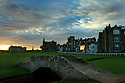 The Swilcan Bridge spanning the 1st and 18th holes at St Andrews, the home of Golf......