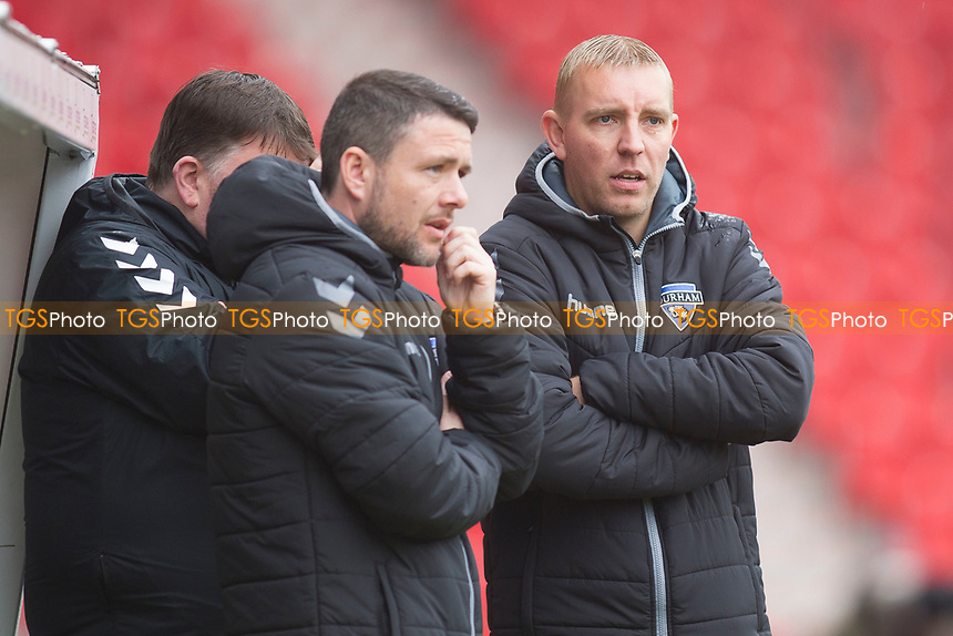 Lee Sanders (manager Durham) during Doncaster Rovers Belles vs Durham Women, FA Women's Super League FA WSL2 Football at the Keepmoat Stadium on 16th April 2017