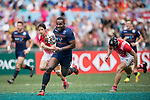 Scotland vs France during their Bowl Semi-final match as part of the HSBC Hong Kong Rugby Sevens 2017 on 09 April 2017 in Hong Kong Stadium, Hong Kong, China. Photo by Weixiang Lim / Power Sport Images