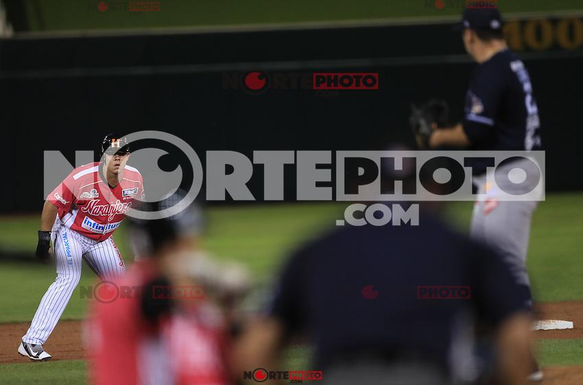 Marco Carrillo pitcher abridor de Yaquis pone fuera  a Roberto Ramos en un revire a segunda base , durante el partido2 de beisbol entre Naranjeros de Hermosillo vs Yaquis de Obregon. Temporada 2016 2017 de la Liga Mexicana del Pacifico.<br /> &copy; Foto: LuisGutierrez/NORTEPHOTO.COM