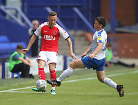Fleetwood Town's Gethin Jones battles with Tranmere Rovers Connor Jennings<br /> <br /> Photographer Mick Walker/CameraSport<br /> <br /> Football Pre-Season Friendly - Tranmere Rovers  v Fleetwood Town  - Saturday 21st July 2018 - Prenton Park - Tranmere<br /> <br /> World Copyright &copy; 2018 CameraSport. All rights reserved. 43 Linden Ave. Countesthorpe. Leicester. England. LE8 5PG - Tel: +44 (0) 116 277 4147 - admin@camerasport.com - www.camerasport.com