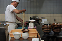 The master at Chikusei has been cooking his justifiably popular noodles the same way for 30 years, with an enviable economy of movement.