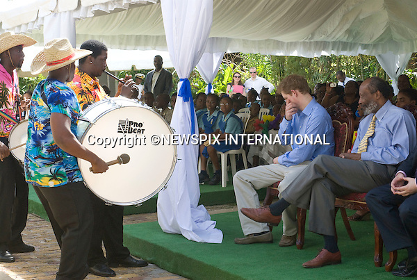 "PRINCE HARRY_Jet-Lagged_The band helps to keep him awake..Prince Harry fights hard to keep awake while watching a performance by young children, at the Garrison Museum, Barbados. The afternoon  Carribean heat  did not help_30/01/2010.Mandatory Credit Photo: ©DIAS-NEWSPIX INTERNATIONAL..**ALL FEES PAYABLE TO: ""NEWSPIX INTERNATIONAL""**..IMMEDIATE CONFIRMATION OF USAGE REQUIRED:.Newspix International, 31 Chinnery Hill, Bishop's Stortford, ENGLAND CM23 3PS.Tel:+441279 324672  ; Fax: +441279656877.Mobile:  07775681153.e-mail: info@newspixinternational.co.uk"