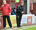 MOTHERWELL MANAGER STUART MCCALL ..07/01/2012 sct_jsp017_motherwell_v_queens_park     .Copyright  Pic : James Stewart.James Stewart Photography 19 Carronlea Drive, Falkirk. FK2 8DN      Vat Reg No. 607 6932 25.Telephone      : +44 (0)1324 570291 .Mobile              : +44 (0)7721 416997.E-mail  :  jim@jspa.co.uk.If you require further information then contact Jim Stewart on any of the numbers above.........