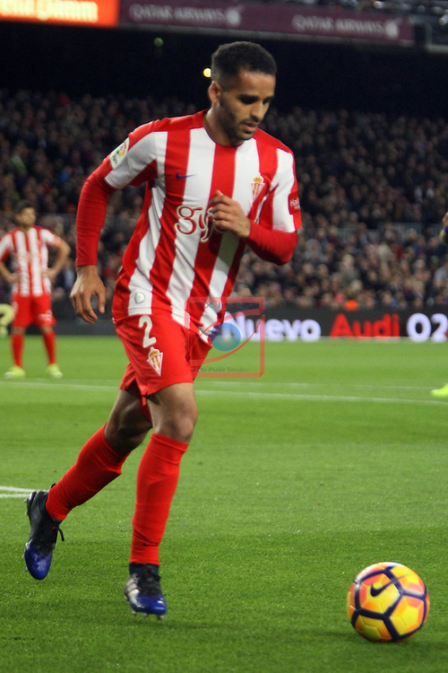 League Santander 2016/2017. Game: 25.<br /> FC Barcelona vs Real Sporting SAD: 6-1.<br /> Douglas.