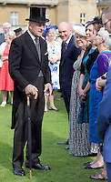 19 May 2016 - London, England - Prince Philip Duke of Edinburgh during a garden party at Buckingham Palace in London. Photo Credit: ALPR/AdMedia