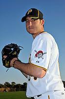 Feb 28, 2010; Bradenton, FL, USA; Pittsburgh Pirates  pitcher Bryan Morris (64) during  photoday at Pirate City. Mandatory Credit: Tomasso De Rosa/ Four Seam Images