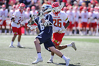 College Park, MD - April 8, 2017: Penn State Nittany Lions Ryan Keenan (6) scores a goal during game between Penn State and Maryland at  Capital One Field at Maryland Stadium in College Park, MD.  (Photo by Elliott Brown/Media Images International)