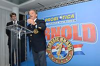 RIO DE JANEIRO, RJ, 26 JULHO 2012 - ANUNCIO DO ARNOLD CLASSIC BRASIL- Felipe Bonilha, organizador do evento e Rafael Santoja, Presidente Mundial da IFBB na cerimonia de anuncio do evento Arnold Classic Brasil que acontecera em Abril de 2013, englobando diversas modalidades esportivas, deu inicio a 14 edicao do evento Rio Sports Show que inicia amanha dia 27 no Pier Maua, nesta quinta-feira, 26 (FOTO: MARCELO FONSECA / BRAZIL PHOTO PRESS).
