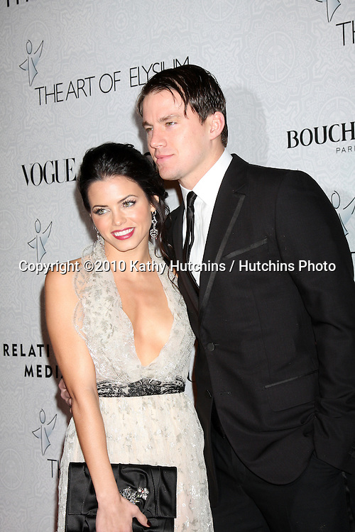 Jenna Dewan & Channing Tatum .arriving at the 3rd Annual Art of Elysium Gala.Rooftop of Parking Garage across from Beverly Hilton Hotel.Beverly Hills, CA.January 16, 2010.©2010 Kathy Hutchins / Hutchins Photo....