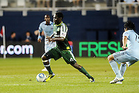 Kalif Alhassan (11) midfielder Portland Timbers in action... Sporting Kansas City defeated Portland Timbers 3-1 at LIVESTRONG Sporting Park, Kansas City, Kansas.