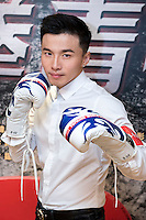 Launch of the MMA movie 'Fist of Youth' in Hong Kong. Stars of the movie. A-Wei (Liu Jun Wei) from Lollipop F ,a Taiwanese Mandopop boy band, tries his hand at acting and MMA. Hong Kong on August 26, 2016