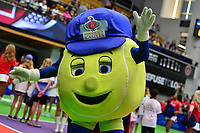 Washington, DC - July 25, 2018:  The VWashington Kastles mascot engages the crowd before match play between the Kastles and the San Diego Aviators July 25, 2018.  (Photo by Don Baxter/Media Images International)