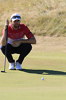Ruaidhri McGee (IRL) on the 3rd green during Friday's Round 2 of the 2018 Dubai Duty Free Irish Open, held at Ballyliffin Golf Club, Ireland. 6th July 2018.<br /> Picture: Eoin Clarke | Golffile<br /> <br /> <br /> All photos usage must carry mandatory copyright credit (&copy; Golffile | Eoin Clarke)