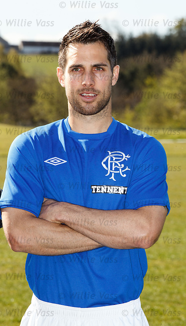 Carlos Bocanegra with the new Rangers home kit