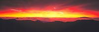 Sunrise at Haleakala Crater, Haleakala National Park, Island of Maui, Hawaii