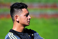 TJ Va'a. Hurricanes rugby union training at Rugby League Park in Wellington, New Zealand on Wednesday, 24 January 2018. Photo: Dave Lintott / lintottphoto.co.nz