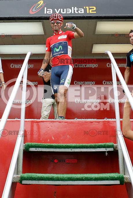Alejandro Valverde during the stage of La Vuelta 2012 between Barakaldo and Valdezcaray.August 21,2012. (ALTERPHOTOS/Acero) /NortePhoto.com