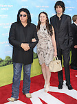 WESTWOOD, CA - JUNE 04: Gene Simmons, Sophie Simmons and Nick Simmons  arrive at the Los Angeles premiere of 'That's My Boy' held at Regency Village Theatre Westwood on June 4, 2012 in Westwood, California.