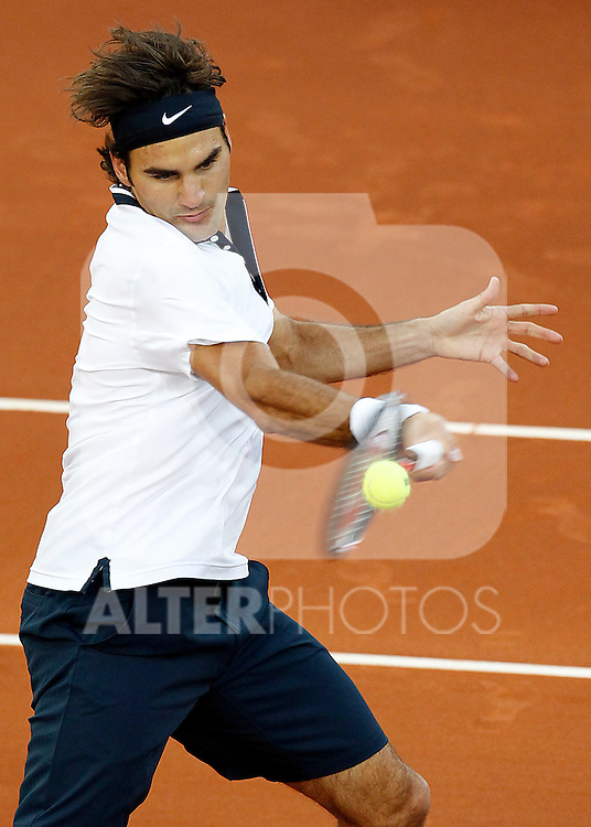 Roger Federer during Tennis Madrid Open match, May 15,2010..(ALTERPHOTOS/Acero)