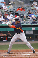 Houston Astros designated hitter Nate Frieman (56) at bat against the Miami Marlins during a spring training game at the Roger Dean Complex in Jupiter, Florida on March 12, 2013. Houston defeated Miami 9-4. (Stacy Jo Grant/Four Seam Images)........