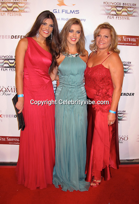 Miss Brazil 2008 and Model Natalia Anderle, Neidi Carminati and Actress and Model Marcela Tinti..Brazilian Film Festival Opening Gala..Screening of Seguraca Nacional Movie..American Cinematheque Egyptian Theatre..Hollywood, CA, USA..Thursday, February 04, 2010..Photo By Celebrityvibe.com.To license this image please call (212) 410 5354; or Email: celebrityvibe@gmail.com ; .website: www.celebrityvibe.com.