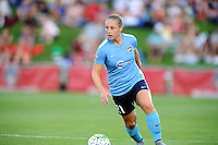 Boyds, MD - Saturday June 25, 2016: Leah Galton during a United States National Women's Soccer League (NWSL) match between the Washington Spirit and Sky Blue FC at Maureen Hendricks Field, Maryland SoccerPlex.