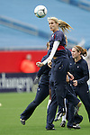 14 April 2007: United States midfielder Leslie Osborne, pregame. The United States Women's National Team defeated the Women's National Team of Mexico 5-0 at Gillette Stadium in Foxboro, Massachusetts in an international friendly game.