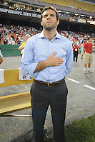 DC United Head Coach Ben Olsen.  FC Dallas defeated DC United 3-1 at RFK Stadium, Saturday August 14, 2010.