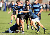 Action from the first round of the 2019 UC Championship rugby series between St Andrew's and Nelson College at St Andrew's College in Christchurch, New Zealand on Saturday, 04 May 2019. Photo: Martin Hunter / lintottphoto.co.nz