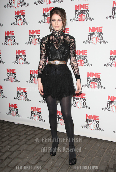 Tali Lennox arriving for the NME Awards 2012 held at The Brixton Academy, London. 29/02/2012 Picture by: Henry Harris / Featureflash