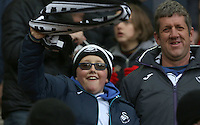 Swansea City fans during the Premier League match between Liverpool and Swansea City at Anfield, Liverpool, Merseyside, England, UK. Saturday 21 January 2017