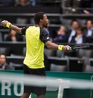 12-02-14, Netherlands,Rotterdam,Ahoy, ABNAMROWTT, Gael Monfils(FRA)<br /> Photo:Tennisimages/Henk Koster