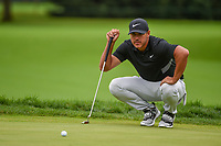 Brooks Koepka (USA) lines up his putt on 11 during Rd4 of the 2019 BMW Championship, Medinah Golf Club, Chicago, Illinois, USA. 8/18/2019.<br /> Picture Ken Murray / Golffile.ie<br /> <br /> All photo usage must carry mandatory copyright credit (© Golffile | Ken Murray)