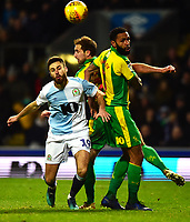 Blackburn Rovers' Ben Brereton competes with West Bromwich Albion's Kyle Bartley<br /> <br /> Photographer Richard Martin-Roberts/CameraSport<br /> <br /> The EFL Sky Bet Championship - Blackburn Rovers v West Bromwich Albion - Tuesday 1st January 2019 - Ewood Park - Blackburn<br /> <br /> World Copyright &not;&copy; 2019 CameraSport. All rights reserved. 43 Linden Ave. Countesthorpe. Leicester. England. LE8 5PG - Tel: +44 (0) 116 277 4147 - admin@camerasport.com - www.camerasport.com