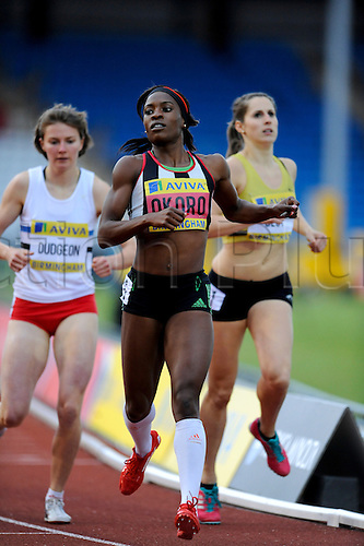 22.06.2012 Birmingham, England. AVIVA 2012  Athletics Olympic Trials. Marylin Okoro action in the Women's 800 metres  heats at the Alexander Stadium.