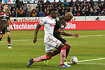 08.02.2019, Rheinenergiestadion, Köln, GER, DFL, 2. BL, VfL 1. FC Koeln vs FC St. Pauli, DFL regulations prohibit any use of photographs as image sequences and/or quasi-video<br /> <br /> im Bild v. li. im Zweikampf im Strafraum Jhon Cordoba (#15, 1.FC Köln / Koeln)  Christopher Avevor (#6, FC St. Pauli)<br /> <br /> Foto © nph/Mauelshagen