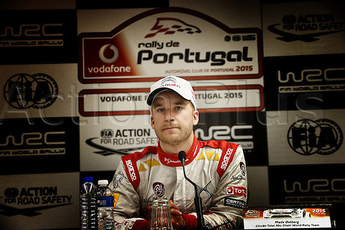 21.05.2015. Lousada, Portugal. Day 1 of the WRC Rally of Portugal.  Mads Ostebrg (NOR) at the press conference