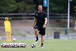 CARY, NC - MAY 18: Assistant coach Scott Vallow. The North Carolina Courage held a training session on May 18, 2017, at WakeMed Soccer Park Field 5 in Cary, NC.