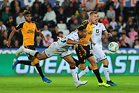 Ben Cabango of Swansea City in action during the Carabao Cup Second Round match between Swansea City and Cambridge United at the Liberty Stadium in Swansea, Wales, UK. Wednesday 28, August 2019.