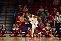 NWA Democrat Gazette/SPENCER TIREY  <br /> Razorback Daryl Macon (4) avoids Samford player Kevin Nolan (1) as he brings the ball down the court during the second Friday Nov. 10,2017 at Bud Walton Arena in Fayetteville. Arkansas won the game 95-56.