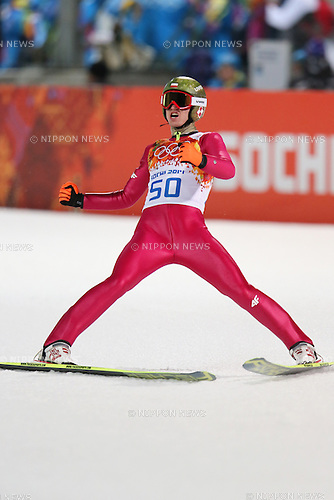 Kamil Stoch (POL),<br /> FEBRUARY 8, 2014 - Ski Jumping : <br /> Men's Individual Normal Hill <br /> at &quot;RUSSKI GORKI&quot; Jumping Center <br /> during the Sochi 2014 Olympic Winter Games in Sochi, Russia. <br /> (Photo by Yusuke Nakanishi/AFLO SPORT) [1090]