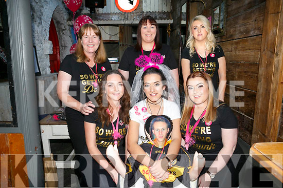 Bride to be Danielle Bodell, Manor who's marring Dara Healy, Connolly Park, in September celebrating with friends at a Hen party at Roundy's Bar on Saturday. Pictured friends for Tesco's  front l-r Olivia Butler, Danielle Bodell, Louise O Connor, Back l-r Ann Knightly, Mags Wallace, Shannon Casey